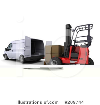 Forklift Clipart 209744 Illustration By Kj Pargeter