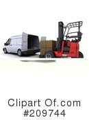 Royalty-Free (RF) forklift Clipart Illustration #209744