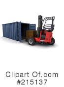Royalty-Free (RF) forklift Clipart Illustration #215137