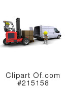 Royalty-Free (RF) forklift Clipart Illustration #215158