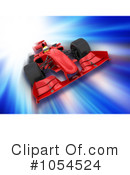 Royalty-Free (RF) Formula One Clipart Illustration #1054524
