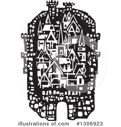 Royalty-Free (RF) Fortress Clipart Illustration by xunantunich - Stock Sample #1306923