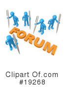 Royalty-Free (RF) Forum Clipart Illustration #19268