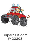Royalty-Free (RF) Four Wheeling Clipart Illustration #433303