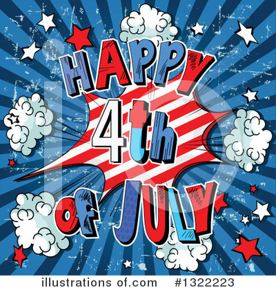 Royalty-Free (RF) Fourth Of July Clipart Illustration by Pushkin - Stock Sample #1322223