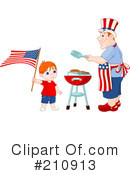 Royalty-Free (RF) Fourth Of July Clipart Illustration #210913