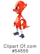 Royalty-Free (RF) Fox Character Clipart Illustration #54555