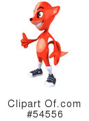 Royalty-Free (RF) Fox Character Clipart Illustration #54556
