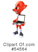 Royalty-Free (RF) Fox Character Clipart Illustration #54564