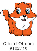Royalty-Free (RF) Fox Clipart Illustration #102710