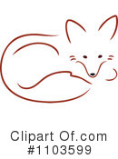 Royalty-Free (RF) Fox Clipart Illustration #1103599