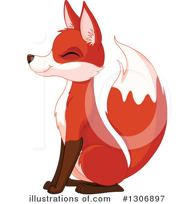 Fox Clipart #1306897 by Pushkin