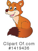 Royalty-Free (RF) Fox Clipart Illustration #1419436