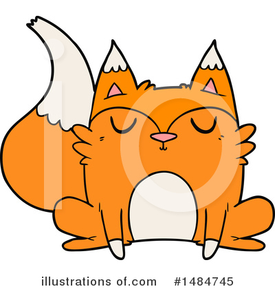 Royalty-Free (RF) Fox Clipart Illustration by lineartestpilot - Stock Sample #1484745