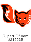 Royalty-Free (RF) Fox Clipart Illustration #216035