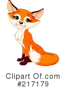Royalty-Free (RF) Fox Clipart Illustration #217179