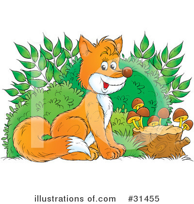 Royalty-Free (RF) Fox Clipart Illustration by Alex Bannykh - Stock Sample #31455