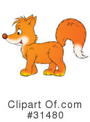 Royalty-Free (RF) Fox Clipart Illustration #31480