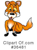 Royalty-Free (RF) Fox Clipart Illustration #36481