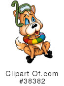 Royalty-Free (RF) fox Clipart Illustration #38382