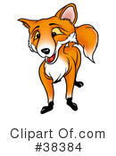 Royalty-Free (RF) Fox Clipart Illustration #38384