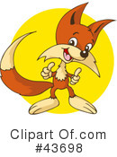 Royalty-Free (RF) Fox Clipart Illustration #43698