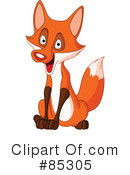 Royalty-Free (RF) Fox Clipart Illustration #85305