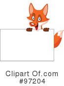 Royalty-Free (RF) Fox Clipart Illustration #97204