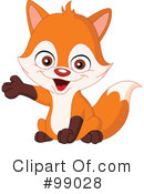Royalty-Free (RF) Fox Clipart Illustration #99028