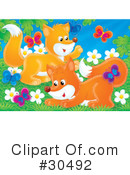 Royalty-Free (RF) Foxes Clipart Illustration #30492
