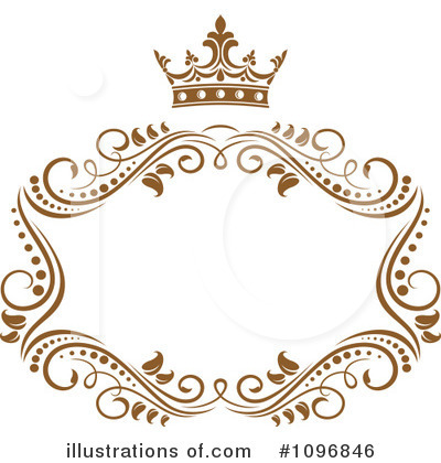 Gold Design Elements Clipart #1096846 by Vector Tradition SM