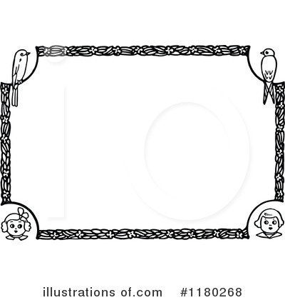 1180268 Royalty Free Frame Clipart Illustration on winter wonderland clip art black and white