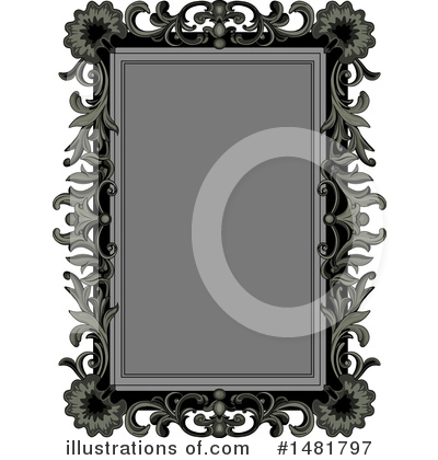 Royalty-Free (RF) Frame Clipart Illustration by Pushkin - Stock Sample #1481797