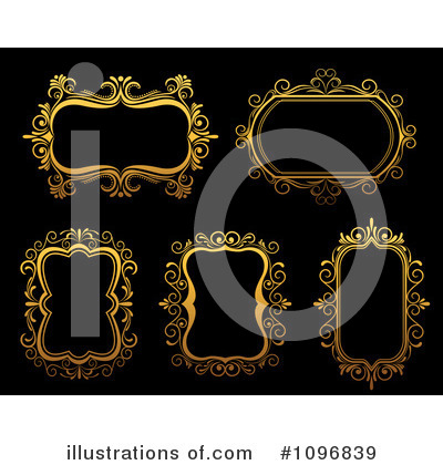 Gold Design Elements Clipart #1096839 by Vector Tradition SM