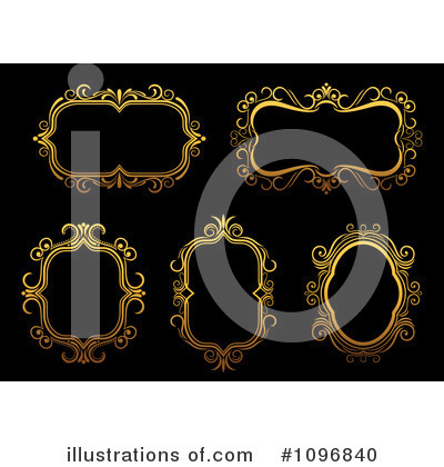 Gold Design Elements Clipart #1096840 by Vector Tradition SM