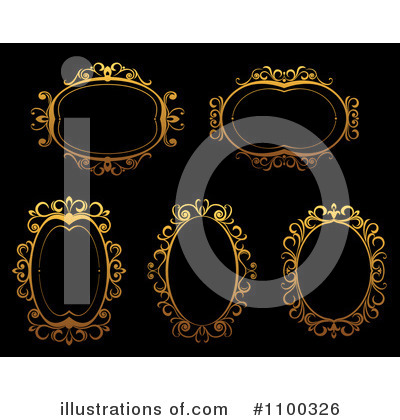 Gold Design Elements Clipart #1100326 by Vector Tradition SM