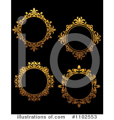 Gold Design Elements Clipart #1102553 by Vector Tradition SM