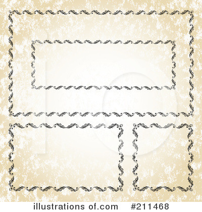 Royalty-Free (RF) Frames Clipart Illustration by BestVector - Stock Sample #211468