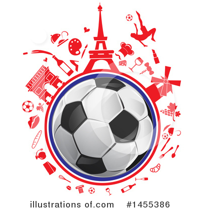 Royalty-Free (RF) France Clipart Illustration by Domenico Condello - Stock Sample #1455386
