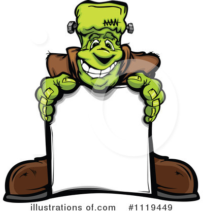Royalty-Free (RF) Frankenstein Clipart Illustration by Chromaco - Stock Sample #1119449