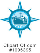 Royalty-Free (RF) Freighter Clipart Illustration #1096395