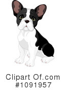 Royalty-Free (RF) French Bulldog Clipart Illustration #1091957
