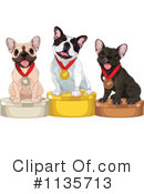 Royalty-Free (RF) French Bulldog Clipart Illustration #1135713