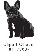 Royalty-Free (RF) French Bulldog Clipart Illustration #1179637
