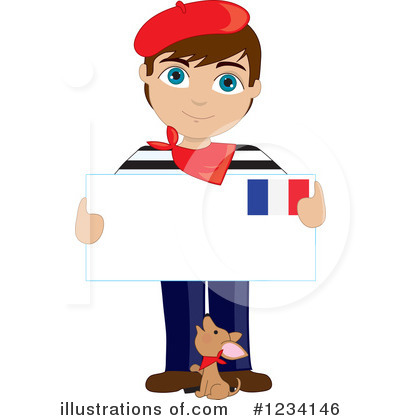 Royalty-Free (RF) French Clipart Illustration by Maria Bell - Stock Sample #1234146