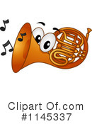 Royalty-Free (RF) French Horn Clipart Illustration #1145337