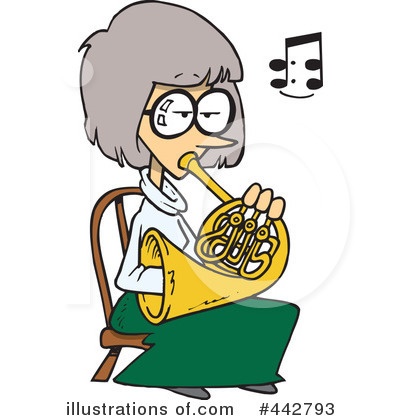 Royalty-Free  RF  French Horn Clipart Illustration by Ron Leishman    French Horn Clipart
