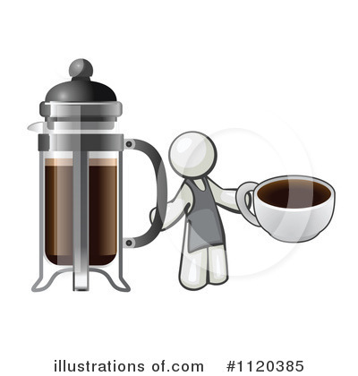 Leo French Press Coffee Maker : French Press Clipart #1120385 - Illustration by Leo Blanchette