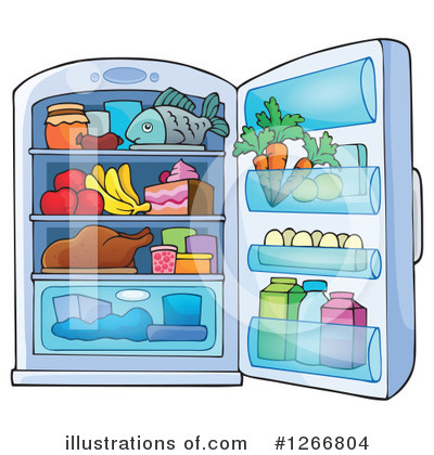 Refrigerator Clipart #1266804 by visekart
