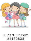 Royalty-Free (RF) Friends Clipart Illustration #1150838